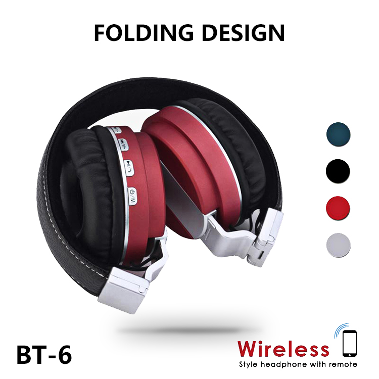 Wireless Foldable Stereo Headset with Microphone