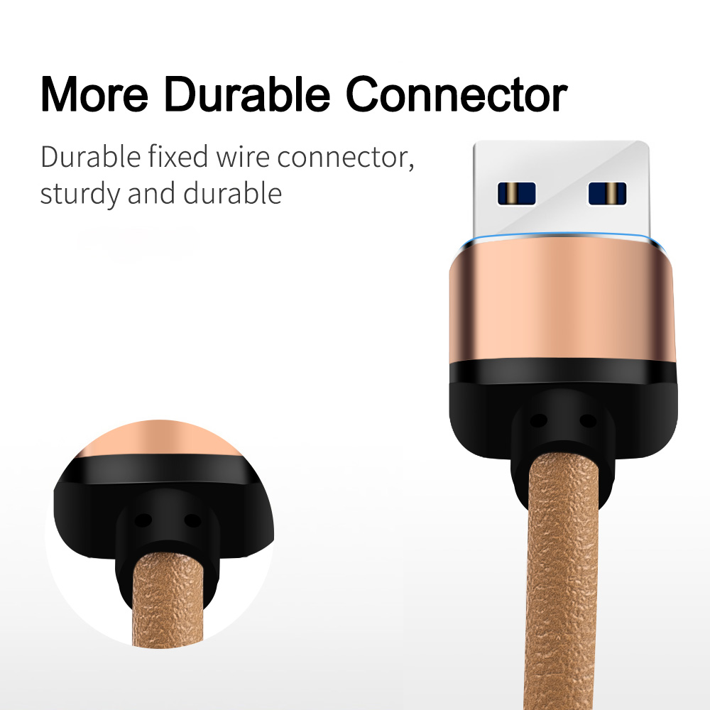 Pu leather Apple usb charging cable